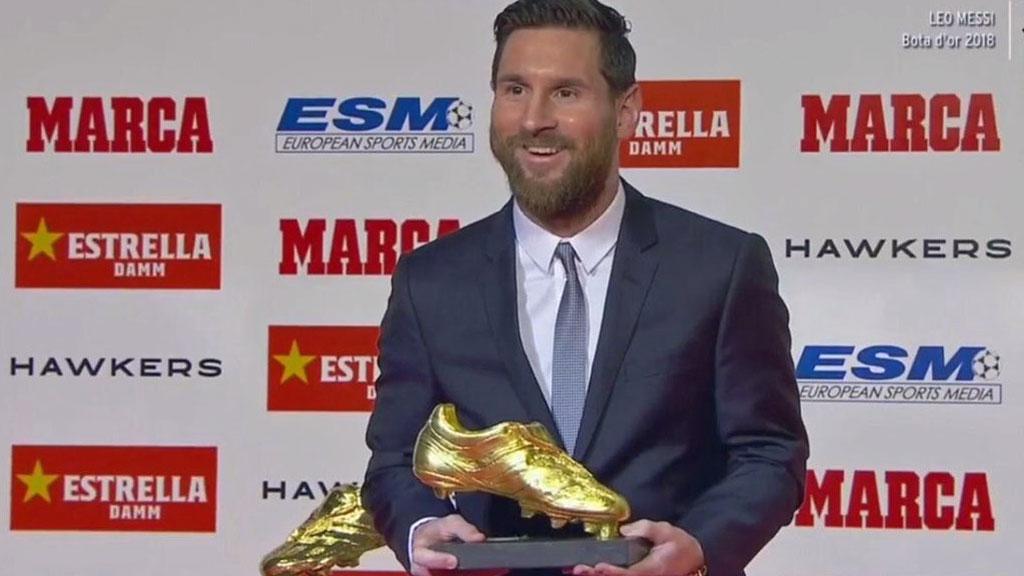 atesorar como una mercancía rara comprar online Zapatos 2018 Messi, quinta bota de oro y actual