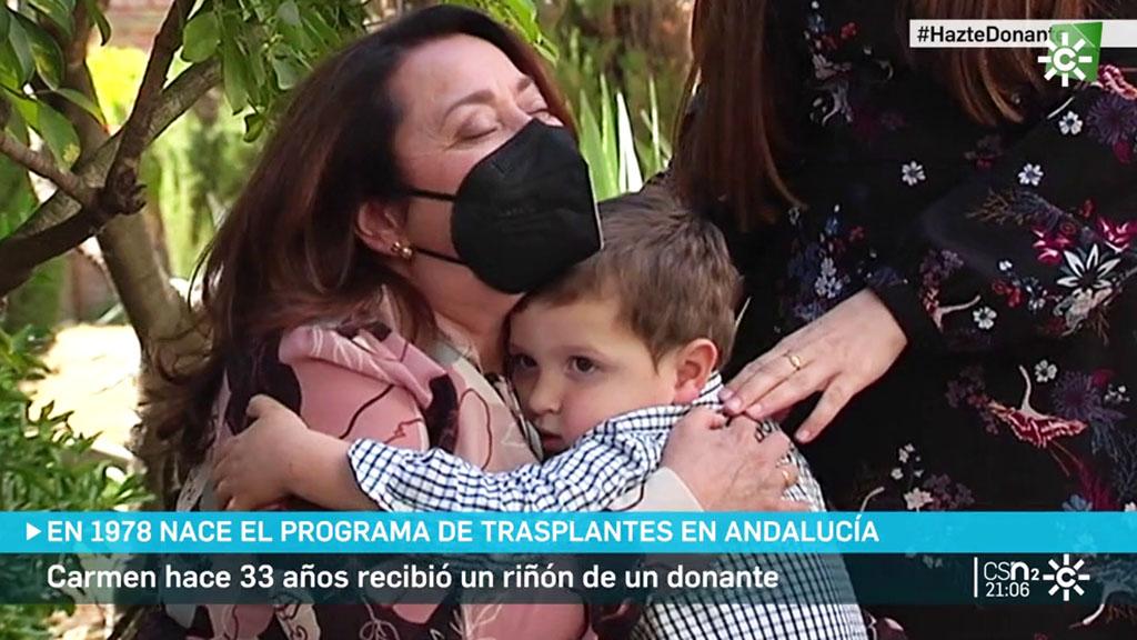 Carmen, 33 años de felicidad tras un trasplante de riñón